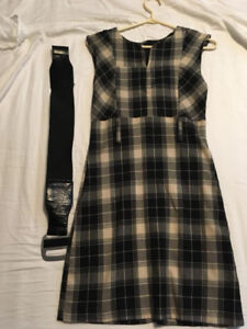 Adorable Plaid Belted Dress