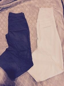 Maternity dress pants size medium brown and khaki