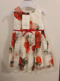 Monsoon girls dress 3-6months