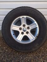 Set of 4 Dodge Ram 1500 rims and tires