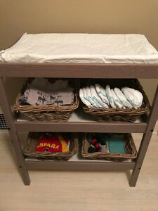 Changing Table with 4 Baskets