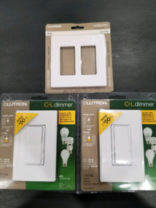 Two dimmer switches for led lights. And wallplate