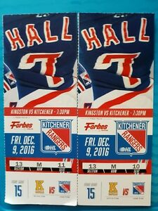 2 Kitchener Rangers tickets for Sale Dec 9th game vs Kingston
