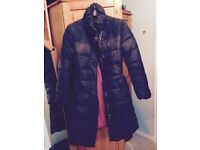 Joules ladies navy long puffer coat size 16