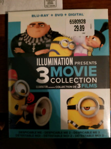 Brand new 3 movie Despicable me collection