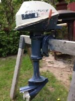 Evinrude outboard 4hp boat motor
