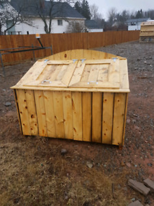 Solid wood garbage cans for sale