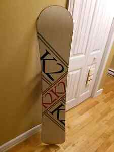 K2 Podium 159 Snowboard with Flow the Five bindings.