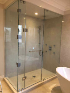 10mm Tempered Glass Shower Doors & Mirror & Stairs