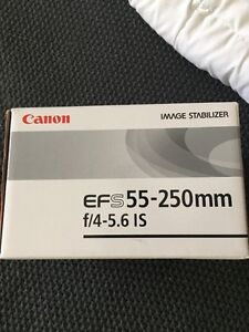 Canon EFS 55-250mm camera lense. Never used