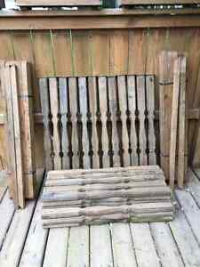 2 x 2 Treated Wood Deck Railing Spindle (40) & Baluster (34)