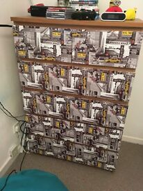Upcycled New York theme ikea Malm chest of drawers