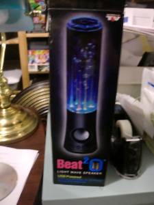 Brand NEW , Beat-2-O Light Wave Speaker, USB powered, NEW