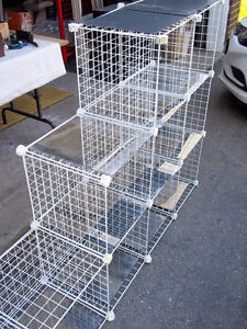 """Modular Grid Shelving System 9 sections 14 1/2"""" x 14 1/2"""""""