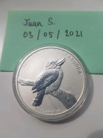 1oz 2010 Australian Kookaburra .999 silver bullion coin