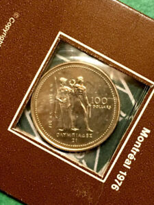 1976 Montreal Olympics $100 14K Gold Coin in Package