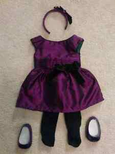 American Girl Doll Outfit - purple dress