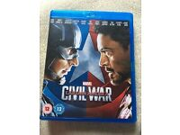 Captain America civil war blu Ray.