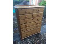 Lovely ducal solid pine chest of drawers.