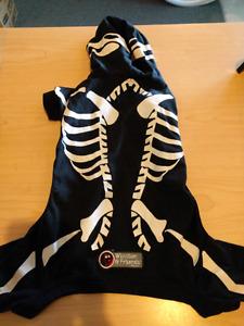 Small dog skeleton costume (shirt)