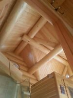 Cabin & Log Home Restoration Chinking and Stain