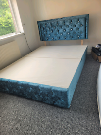 Teal King size bed