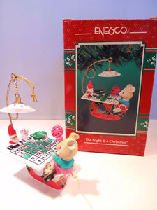 Enesco Casino Christmas Series 7 Mice / Mouse Ornaments London Ontario image 6