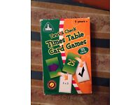 Time table card games