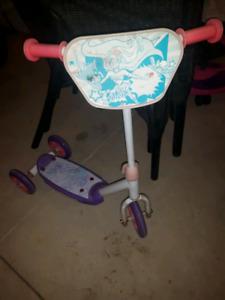 3 wheeled Barbie scooter
