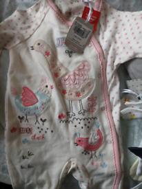 Sainsbury's 3-6 months sleep suits