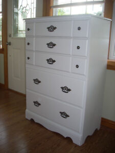 NEWLY PAINTED SOLID WOOD DRESSER