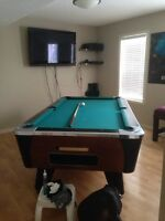 Coin op. Pool table