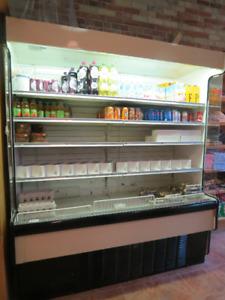 great open front merchandising fridge, best offer, great value!