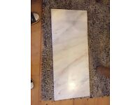 Lovely white marble hearth