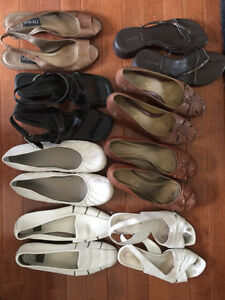 8 Pairs of almost new ladies shoes - sizes 8-9