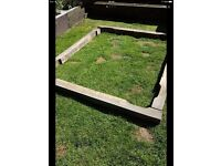 Tanalised treated rustic timber - perfect garden project.