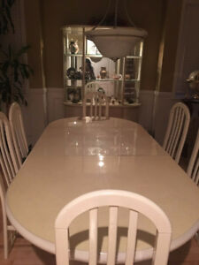 Dining Room Set w/6 chairs- Cream Colour