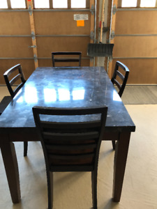 Table (Including Chairs) For Sale