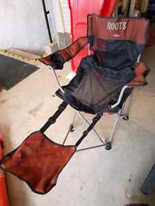 Roots camping chair with footstool