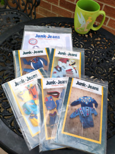 Lot of 6 Junk Jeans sewing patterns.