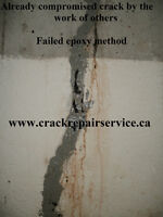 WET BASEMENT / FOUNDATION CRACK REPAIR / OAKVILLE, BURLINGTON