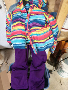 Youth girls barely used Jacket and pants