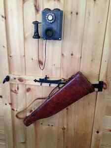VINTAGE 1940'S MUTTON LEATHER GUN CASE