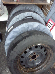 4 rims with Michelin Winter tires