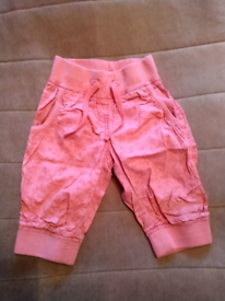 NEXT Girls Pink Butterfly Summer Trousers 3 Years