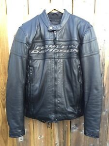 Harley Davidson Men's Competition 3 Waterproof Leather Jacket -M