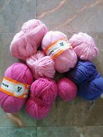 yarn, wool, pink, purple