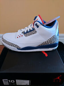 Air Jordan 3 True Blue shoes nike adidas Size 10