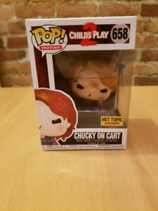 Funko pop Child's play 2 chucky on cart HOT TOPIC exclusif