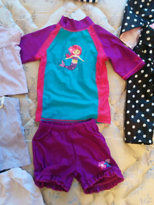 Girls clothes, spring jacket, swimsuit,  t-shirts